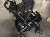 Baby's black stroller in very good condition it was $350  New Westminster, V3M 1M4