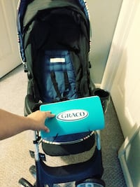 baby's blue and black Graco stroller York, 17404