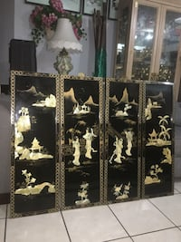 "ABSOLUTELY GORGEOUS ORIENTAL AUTHENTIC """"MOTHER OF PEARL WALL PANELS """