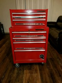 red and gray tool cabinet Alexandria, 22303
