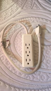 white and gray corded device