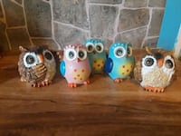 Set of 5 owls Holly, 48442
