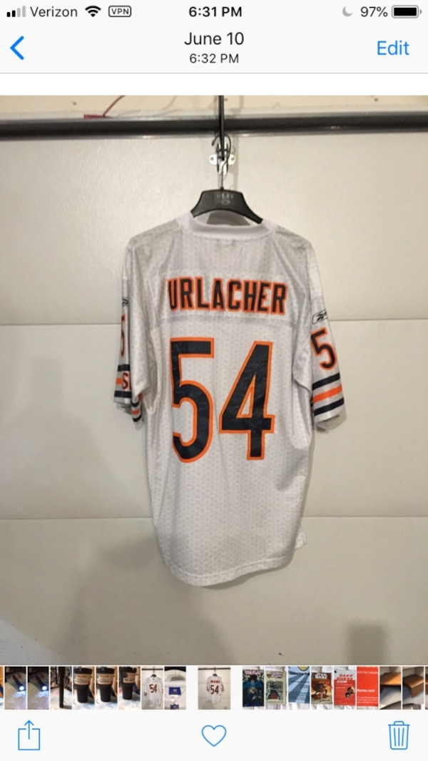 best sneakers e2ab7 33123 #54 Brian Urlacher Jersey size men's large