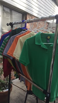 Green and red striped polo shirt 5 each  Brunswick
