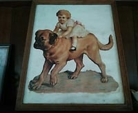 girl riding mastiff painting wall decor Delaware, 72835