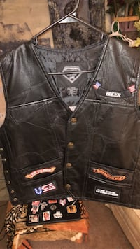 Leather motorcycle vest Greer, 29651