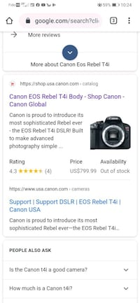 EOS rebel T4i with a 18-55mm lends