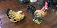 two brown and white rooster ceramic figurines Indian Head, 20640