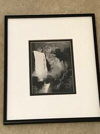 "Ansel Adams black metal framed reproduction of Vernal Fall (10""x12"") Sterling, 20166"