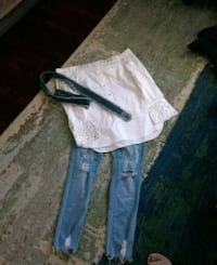 Off the shoulder top (L), Bling Blue Jeans (11)  Pittsburgh, 15235