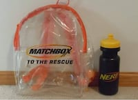 Matchbox backpack and Nerf water bottle Ankeny