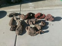 red and brown decorative stones