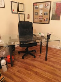 Glass table and office chair Calgary, T3H 1L6