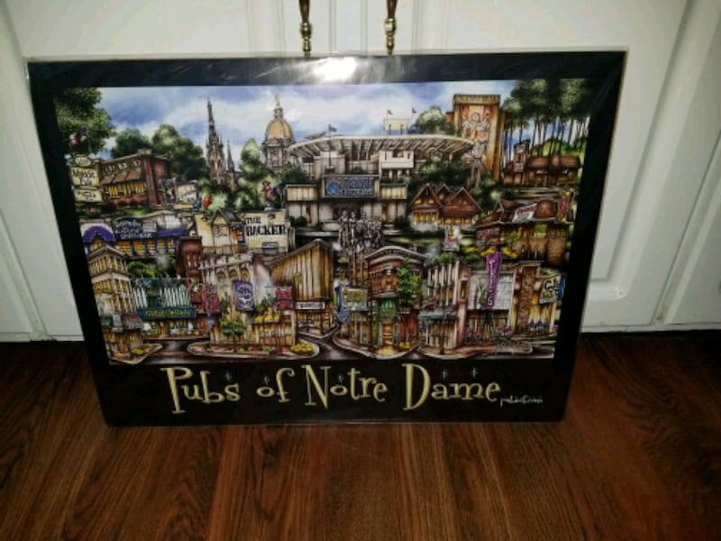 Sold Home Decor Art Notre Dame Print In