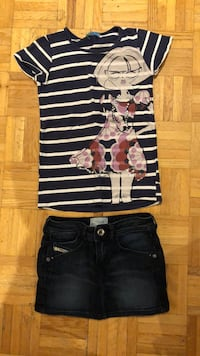 Diesel jean skirt  & top from BLU (both size 6) Laval, H7P 3B6