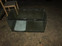 black metal framed glass top TV stand Toronto, M1E