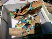 Colorful wedge shoes. Size 7 Austin, 78744