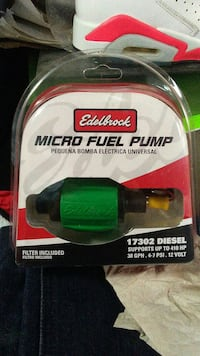 green Edelbrock micro fuel pump with box