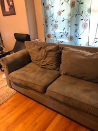 Sectional couch with pillows