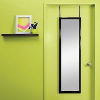 Target Over-the-Door / Wall Mounted Mirror. Luxe Black Finish. MSRP: $19.99 Los Angeles, 90012