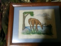 brown wooden framed painting of brown wooden house Braxton, 39044