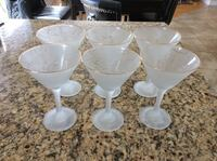 Beautiful 6 Martini Glasses never been used Montréal, H9K 1S7