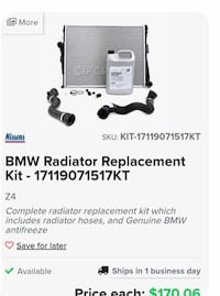 Radiator replacement kit Paoli, 19301
