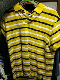 white and red stripe polo shirt Manchester, 03103