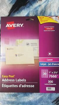 120 Clear Avery Labels Mississauga, ON L4Y, Canada