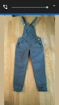 HOLLISTER GREY ANKLE OVERALLS