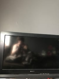 Black flat screen Sony
