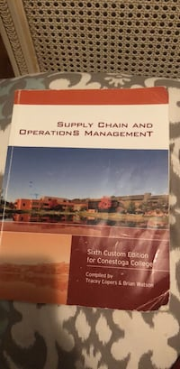 Supply chain and operations management textbook  Kitchener, N2A 3K6