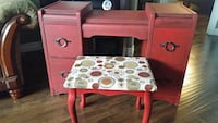 red wooden pedestal desk St. John's, A1G 1A5