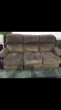 Brown suede 3-seat sofa Tracy, 95377