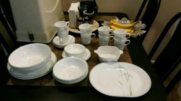 Corelle shadow iris  dinnerware set with box
