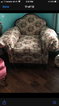 Used Two Couches And A Chair And Ottoman For Sale In