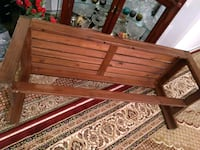 """Wood bench 45 by 16 by 18"""" 544 km"""