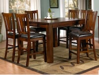 Wooden Pub Table with 8 Chairs Mississauga, L5N 8N6