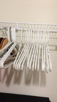 White plastic clothes hangers Chantilly, 20151