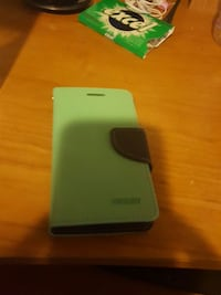 green and black leather flip cover for Samsung galaxy phone
