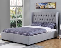 Queen King Full Gas lift storage  Platform upholstered  Dark Grey Italian Linen  bed Italian Premium  Model: Florence  Florence  is a one of a kind addition to any contemporary bedroom. 