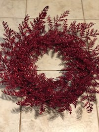 Red Sparkle Wreath College Station, 77845