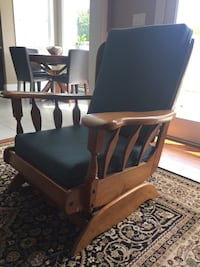 Antique Cherry solid wood reupholstered armchair null, V0R 2P1