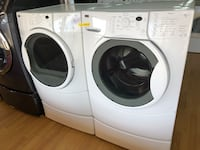 Kenmore white washer and dryer set with pedestals  29 mi