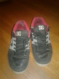 Red and black DC shoes Leetsdale