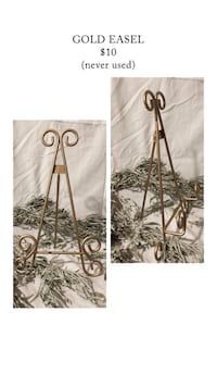 GOLD SIGN STAND // GOLD EASEL Beaverton, 97003
