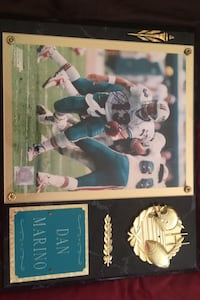 NFL officially licensed Dan Marino autographed photo plaque