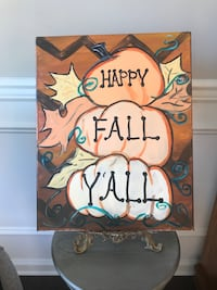 """""""Janet"""" 16x20"""" Canvas Painting! """"Happy Fall Y'all"""""""