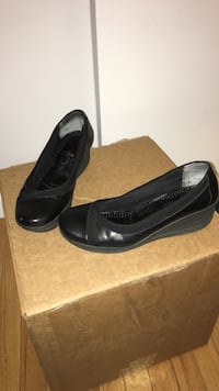 pair of black leather slip-on shoes Fair Lawn, 07410