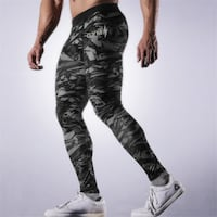 MUSCLE FITNESS BROTHERS ELASTIC RUNNING LEGGINGS